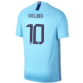 Nike Netherlands 'SNEIJDER 10' Away Stadium Jersey '18-'19 (Polarized Blue/Deep Royal Blue)