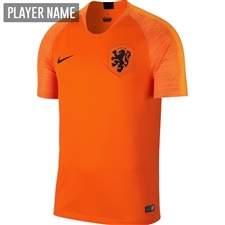Nike Netherlands Home Stadium Jersey '18-'19 (Safety Orange/Black)
