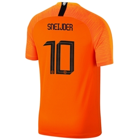 Nike Netherlands 'SNEIJDER 10' Home Stadium Jersey '18-'19 (Safety Orange/Black)