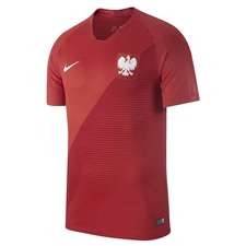 Nike Poland Away Stadium Jersey '18-'19 (Sport Red/Gym Red/White)