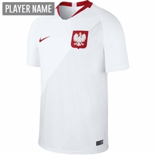 Nike Poland Home Stadium Jersey '18-'19 (White/Sport Red)