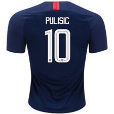Nike USA Men's 'PULISIC 10' Away Stadium Jersey '18-'19 (Midnight Navy/Blue Nebula/White)