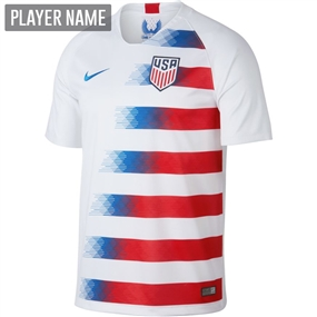 Nike USA Men's Home Stadium Jersey '18-'19 (White/Speed Red/Blue Nebula)