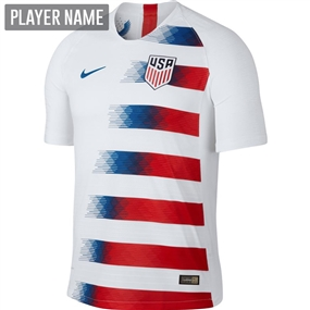 Nike USA Men's Home Vapor Match Jersey '18-'19 (White/Speed Red/Blue Nebula)