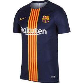 Nike FC Barcelona Pre Match Training Jersey '18-'19 (Obsidian/University Gold)