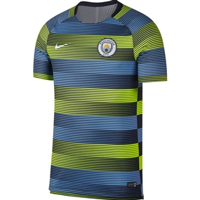 Nike Manchester City Squad Top (Volt/Field Blue/Dark Obsidian/White)