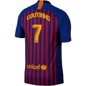 Nike FC Barcelona 'COUTINHO 7' Home Vapor Match Jersey '18-'19 (Deep Royal Blue/University Gold)