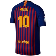 Nike FC Barcelona 'MESSI 10' Home Vapor Match Jersey '18-'19 (Deep Royal Blue/University Gold)