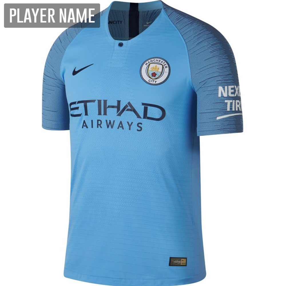 52cafeca179 Nike Manchester City Home Vapor Match Jersey '18-'19 (Field Blue ...