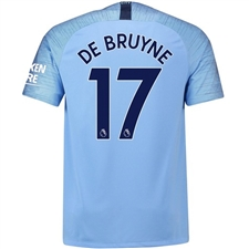 Nike Manchester City 'DE BRUYNE 17' Home Vapor Match Jersey '18-'19 (Field Blue/Midnight Navy)