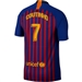 Nike FC Barcelona 'COUTINHO 7' Home Stadium Jersey '18-'19 (Deep Royal Blue/University Gold)