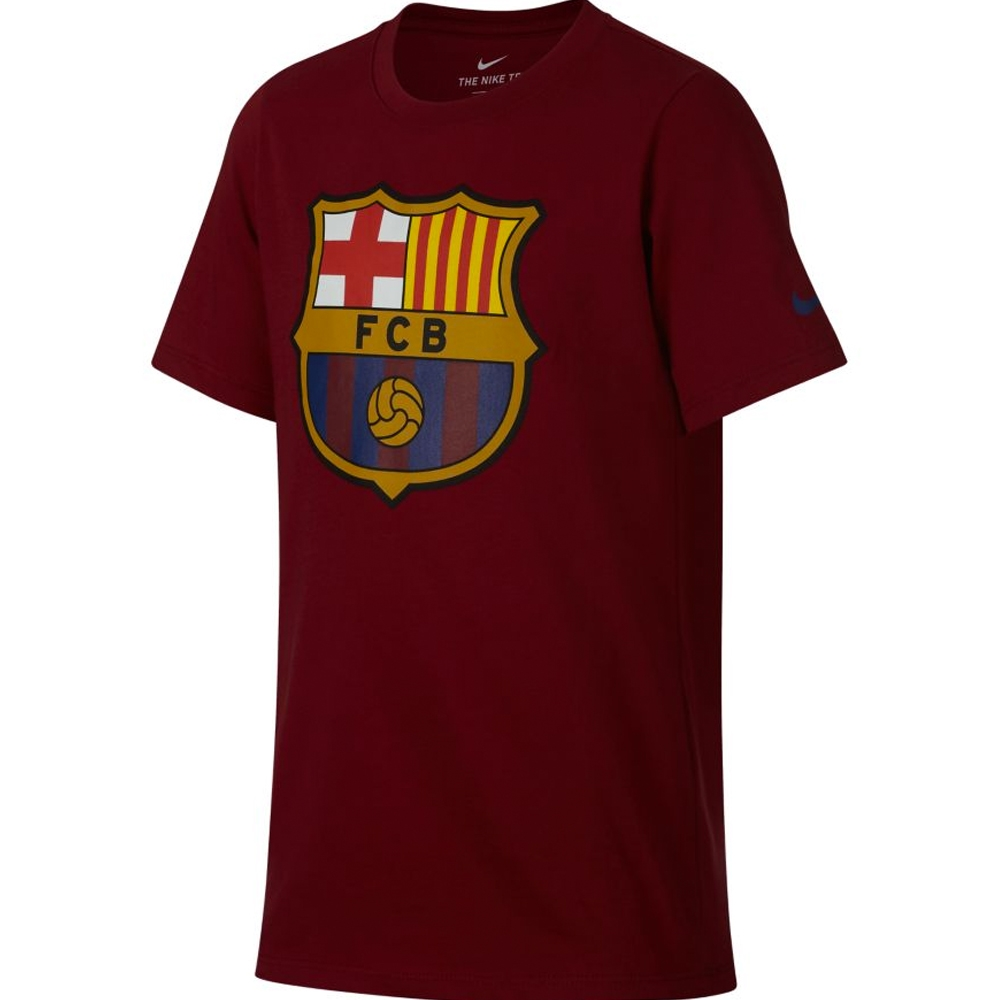 Nike Youth FC Barcelona Crest T-Shirt (Noble Red)  3ba4d1d494c