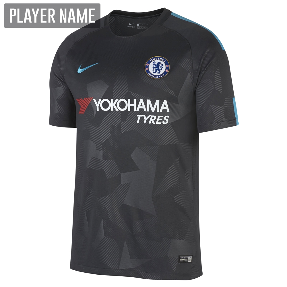 the latest ad7e3 3ac12 Nike Chelsea Third '17-'18 Soccer Jersey (Anthracite/Omega Blue)