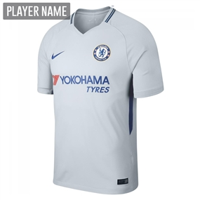 Nike Chelsea Away '17-'18 Soccer Jersey (Pure Platinum/Rush Blue)