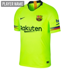 Nike FC Barcelona Away Vapor Match Jersey '18-'19 (Volt/Deep Royal Blue)