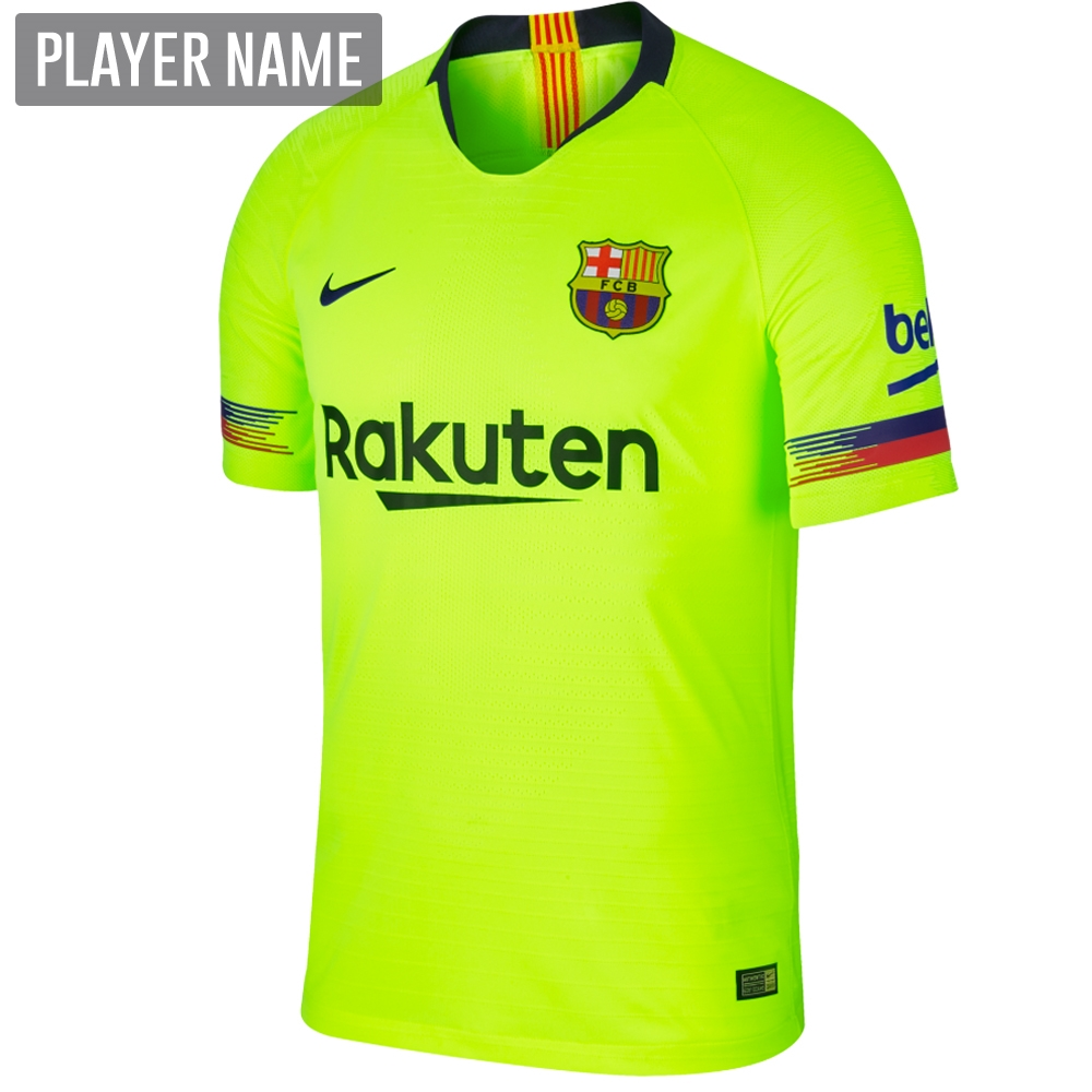 0c4445c86b4 Nike FC Barcelona Away Vapor Match Jersey  18- 19 (Volt Deep Royal ...
