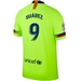 Nike FC Barcelona 'SUAREZ 9' Away Vapor Match Jersey '18-'19 (Volt/Deep Royal Blue)