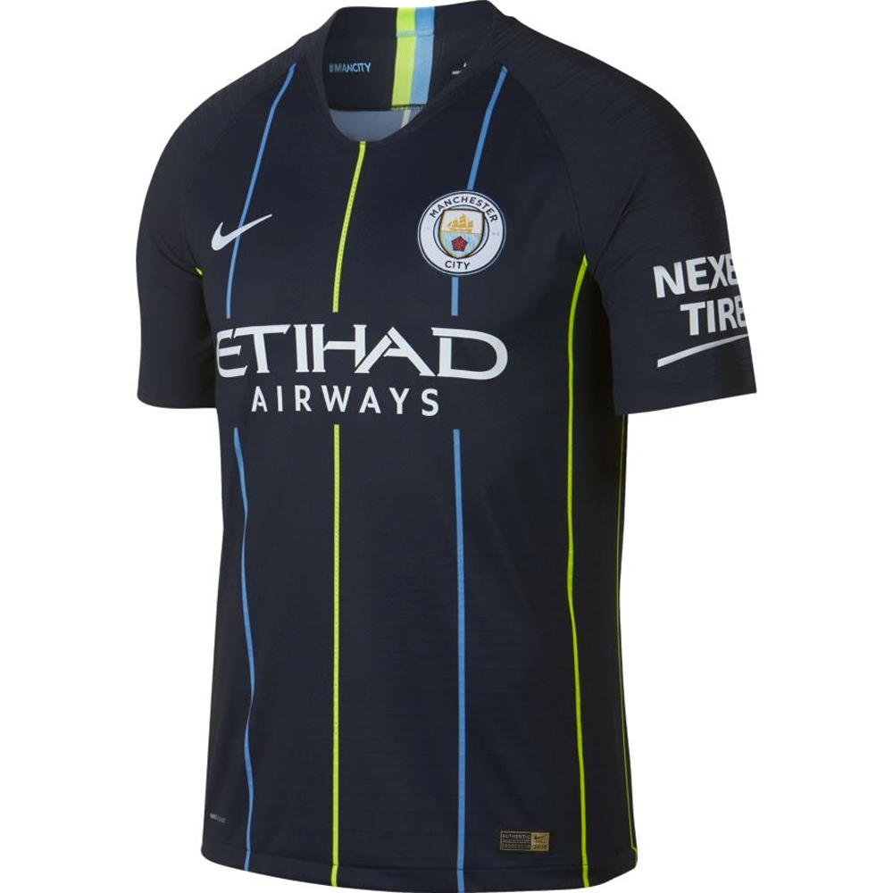 new products ad31e 3a3a8 Nike Manchester City 'CUSTOM' Away Vapor Match Jersey '18-'19 (Dark  Obsidian/White)