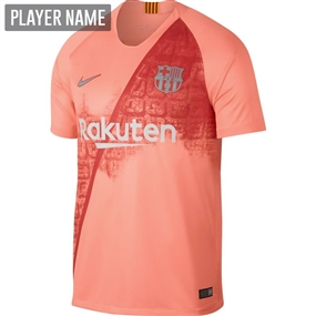 Nike FC Barcelona Third Stadium Jersey '18-'19 (Light Atomic Pink/Silver Logo)