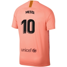Nike FC Barcelona 'MESSI 10' Third Stadium Jersey '18-'19 (Light Atomic Pink/Silver Logo)