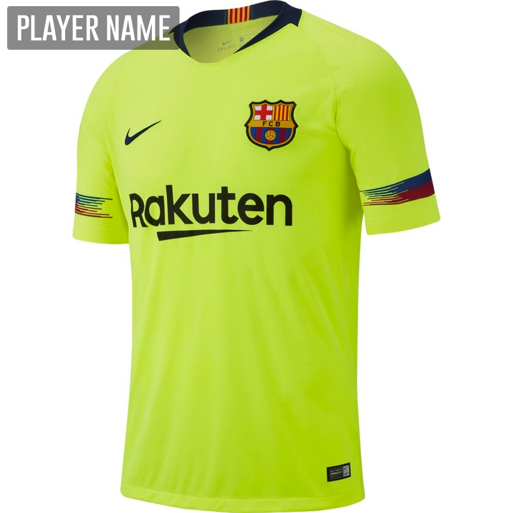 super cheap fa3bf 3ac65 Nike FC Barcelona Away Stadium Jersey '18-'19 (Volt/Deep Royal Blue)