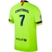 Nike FC Barcelona 'COUTINHO 7' Away Stadium Jersey '18-'19 (Volt/Deep Royal Blue)