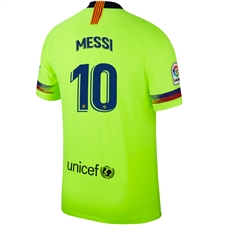 Nike FC Barcelona 'MESSI 10' Away Stadium Jersey '18-'19 (Volt/Deep Royal Blue)