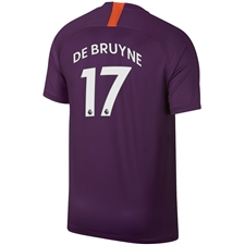 Nike Manchester City 'DE BRUYNE 17' Third Stadium Jersey '18-'19 (Night Purple)