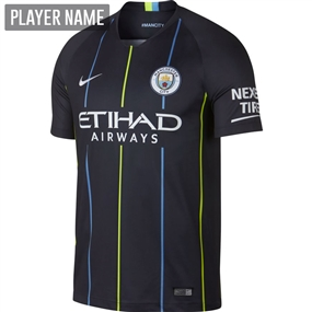 Nike Manchester City Away Stadium Jersey '18-'19 (Dark Obsidian/White)
