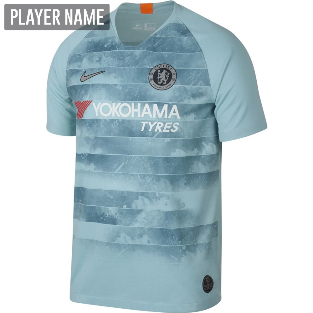 separation shoes a019b d6a7b Nike Chelsea Third Stadium Jersey '18-'19 (Ocean Bliss/Metallic Silver)