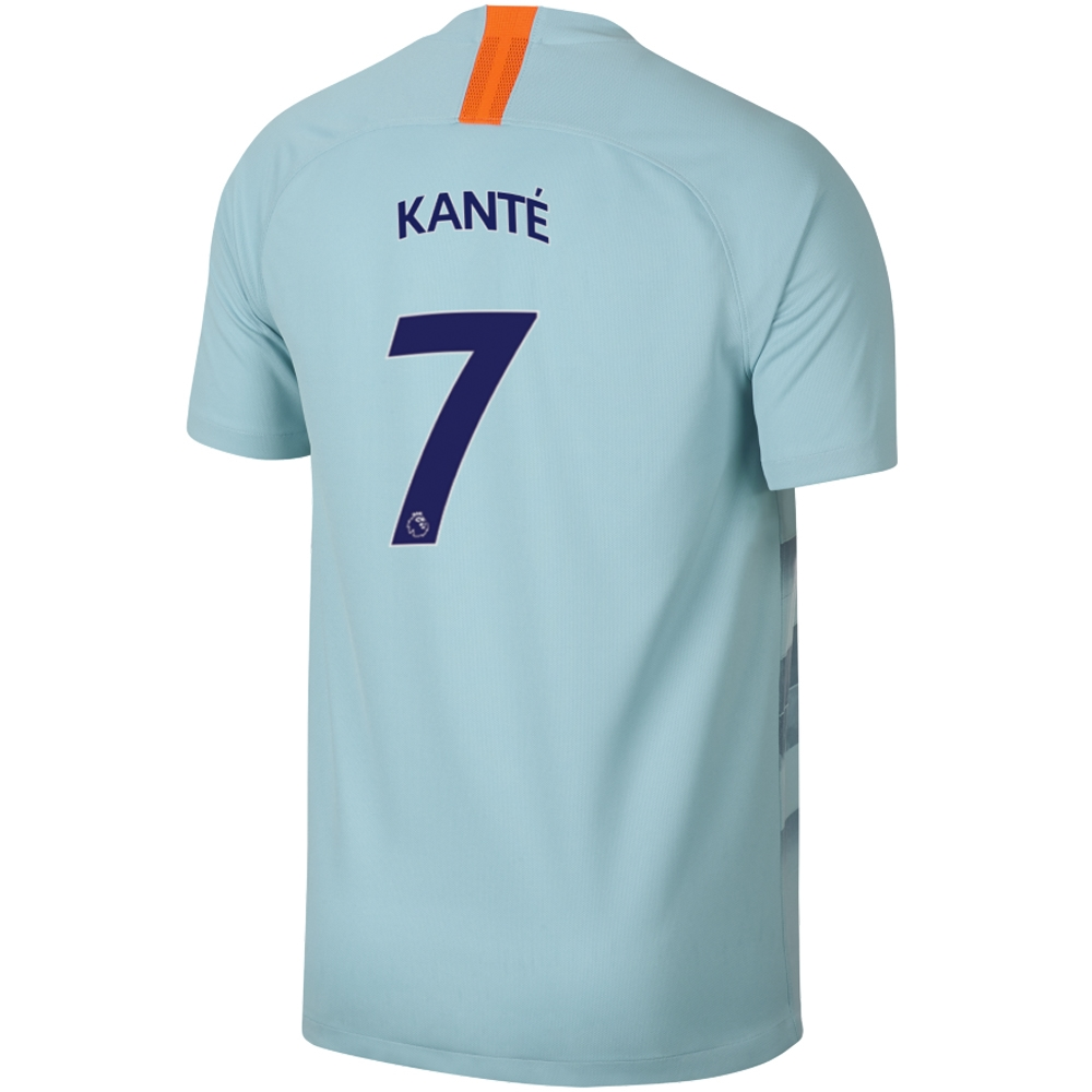 huge discount 499e9 7a925 Nike Chelsea 'KANTE 7' Third Stadium Jersey '18-'19 (Ocean Bliss/Metallic  Silver)