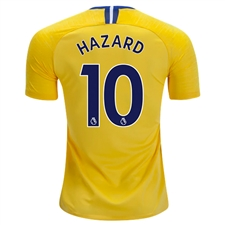 Nike Chelsea 'HAZARD 10' Away Stadium Jersey '18-'19 (Tour Yellow/Rush Blue)