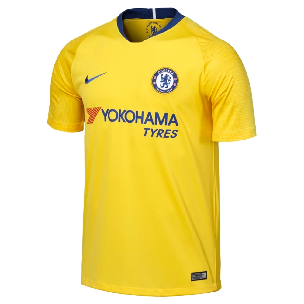 the best attitude 461e1 89df1 Nike Chelsea 'KANTE 7' Away Stadium Jersey '18-'19 (Tour Yellow/Rush Blue)