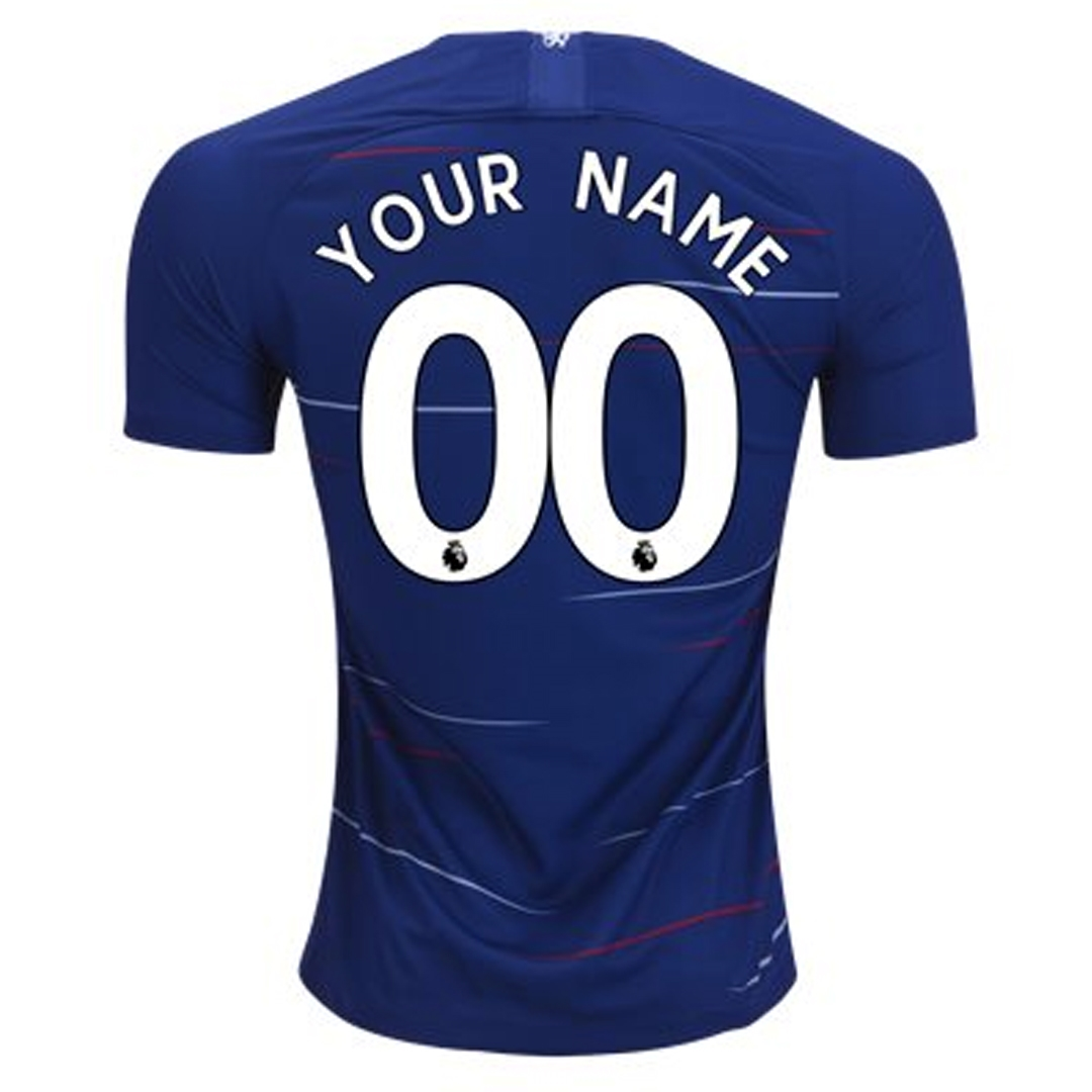 new styles 5dd90 5902e Nike Chelsea 'CUSTOM' Home Stadium Jersey '18-'19 (Rush Blue/White)
