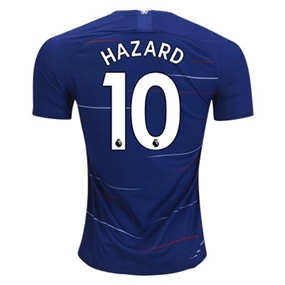 Nike Chelsea 'HAZARD 10' Home Stadium Jersey '18-'19 (Rush Blue/White)