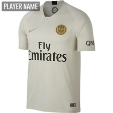 Nike Paris St. Germain Away Stadium Jersey '18-'19 (Light Bone/Truly Gold)