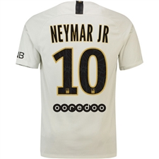 Nike Paris St. Germain 'NEYMAR JR 10' Away Stadium Jersey '18-'19 (Light Bone/Truly Gold)