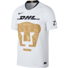Nike Pumas UNAM Home Stadium Jersey '18-'19 (White/Truly Gold/Obsidian)