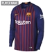 Nike FC Barcelona Home Long Sleeve Stadium Jersey '18-'19 (Deep Royal Blue/University Gold)