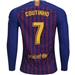 Nike FC Barcelona 'COUTINHO 7' Home Long Sleeve Stadium Jersey '18-'19 (Deep Royal Blue/University Gold)