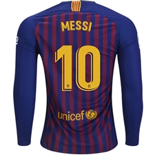 a4cc564f2 ... Nike FC Barcelona  MESSI 10  Home Long Sleeve Stadium Jersey  18-  ...