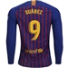 Nike FC Barcelona 'SUAREZ 9' Home Long Sleeve Stadium Jersey '18-'19 (Deep Royal Blue/University Gold)
