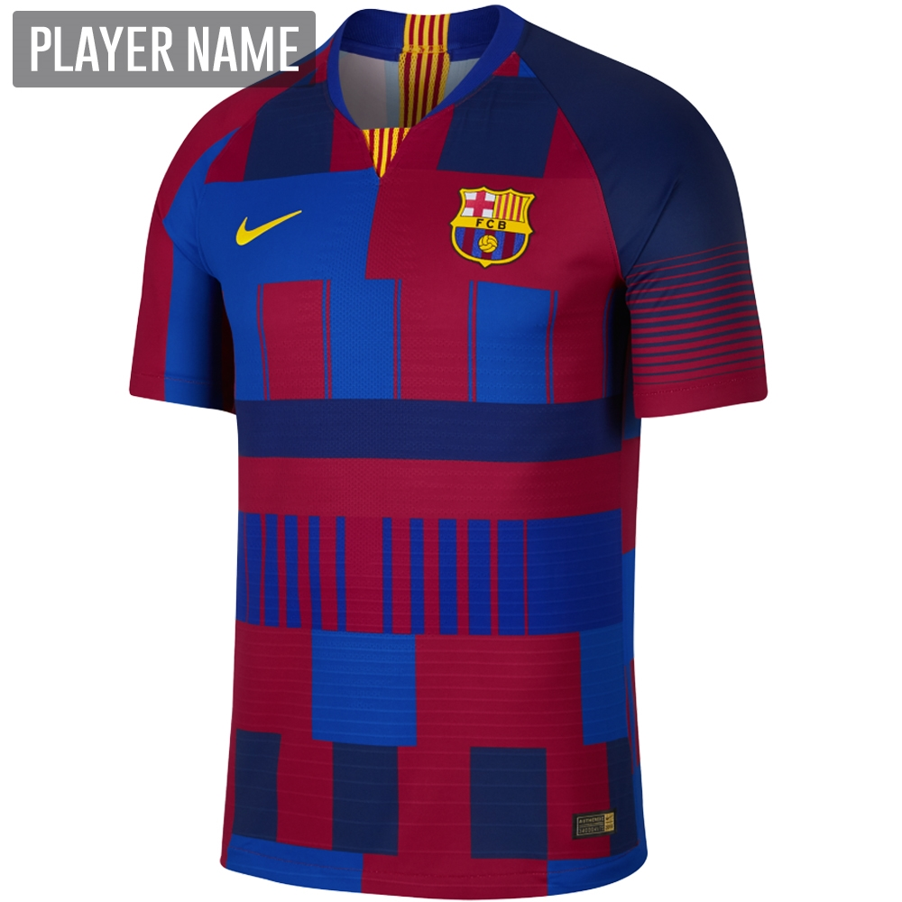 2795005c5fa Nike 20th Anniversary FC Barcelona Vapor Match Jersey (Deep Royal  Blue Noble Red Tour Yellow)