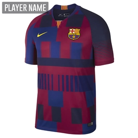 Nike 20th Anniversary FC Barcelona Stadium Jersey (Deep Royal Blue/Noble Red/Tour Yellow)