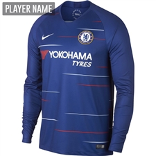 Nike Chelsea Home Long Sleeve Stadium Jersey '18-'19 (Rush Blue/White)