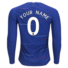 Nike Chelsea 'CUSTOM' Home Long Sleeve Stadium Jersey '18-'19 (Rush Blue/White)