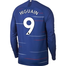 Nike Chelsea 'HIGUAIN 9' Home Long Sleeve Stadium Jersey '18-'19 (Rush Blue/White)