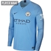 Nike Manchester City Home Long Sleeve Stadium Jersey '18-'19 (Field Blue/Midnight Navy)