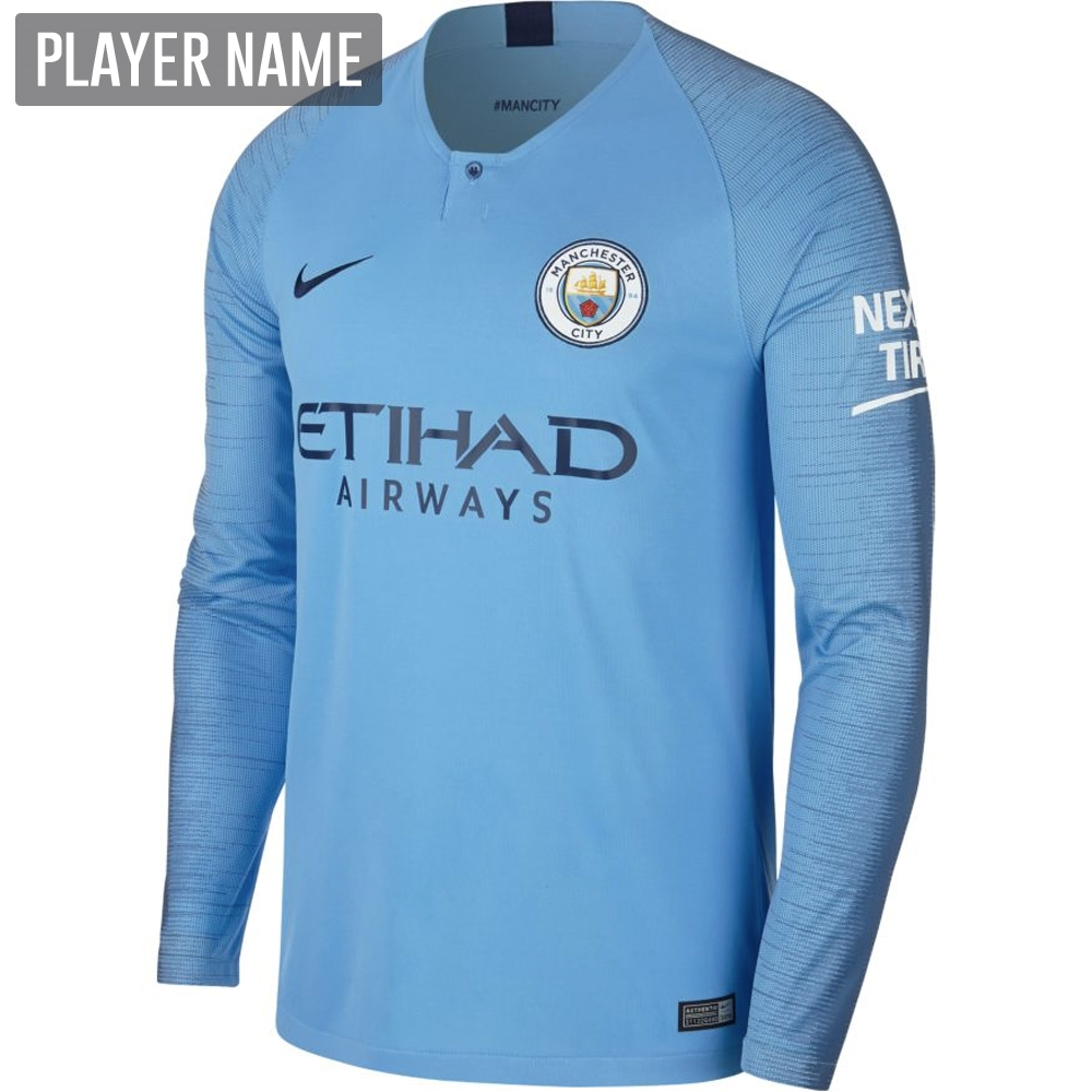 Nike Manchester City Home Long Sleeve Stadium Jersey  18- 19 (Field ... 44a976e94