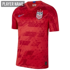 Nike USWNT Men's 2019 Away Stadium 4-Star Jersey (Speed Red/Bright Blue)